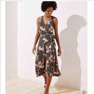 Loft wrap floral dress